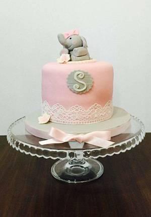 Baby Elephant Cake - Cake by DulcesSuenosConil