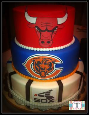 Chicago Sports cake - Cake by Genel
