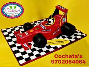 Formula 1 Ferrari Car Cake  - Cake by Deepti