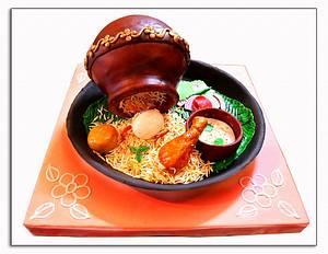 IndiFoodCollaboration - Chicken Biriyani - Cake by Mahua's Fresh From Oven