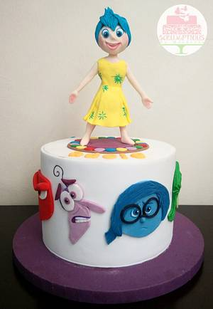 Inside Out cake with Joy topper - Cake by Michelle Chan