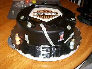 Harley Davidson Leather Jacket cake - Cake by Stephanie Magdiel