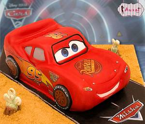 Lightning McQueen cake - Cake by Auxai Tartas