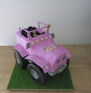 The Pink Jeep - Cake by The Garden Baker