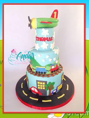 Planes, Trains & Automobiles Cake - Cake by Anda Nematalla
