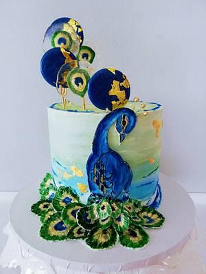 Peacock - Cake by alenascakes