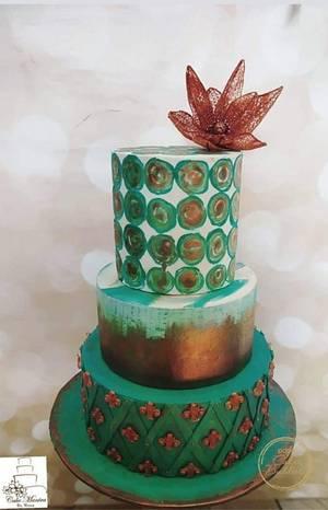 Caker Buddies Metallic Collaboration-Majestic  - Cake by Cakemantra By Mona