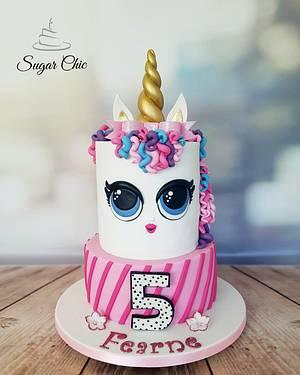 LOL Surprise Doll Unicorn Cake - Cake by Sugar Chic