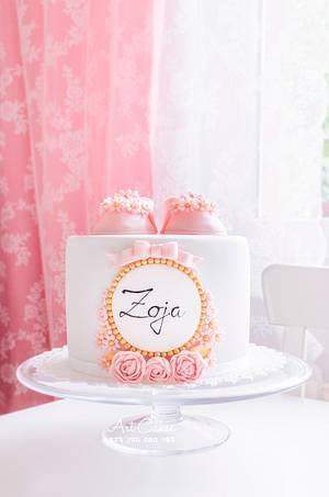 Zoja's Christening Cake - Cake by Art Bakin'