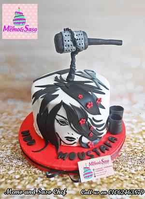 Hairdresser birthday cake - Cake by Mero Wageeh