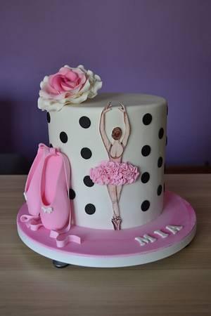 Hand painted ballerina - Cake by Zaklina