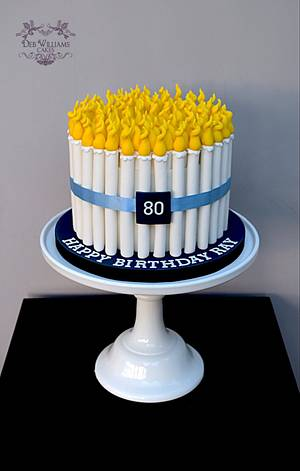A birthday cake with candles - Cake by Deb Williams Cakes
