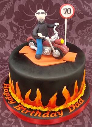 Harley Davidson cake - Cake by That Cake Lady