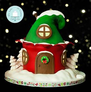 """CPC Red & Green """"Christmas house of elves"""" - Cake by Vanessa Rodríguez"""