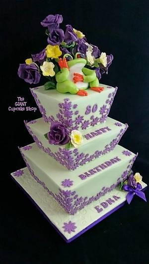 Frog & Flowers - Cake by Amelia Rose Cake Studio