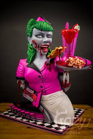 Zombies Diner 3D Cake (Cake and bake Dortmund/Germany) - Cake by Crazy Sweets
