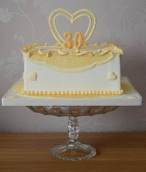 Royal Iced Anniversary Cake - Cake by The Sweet Suite