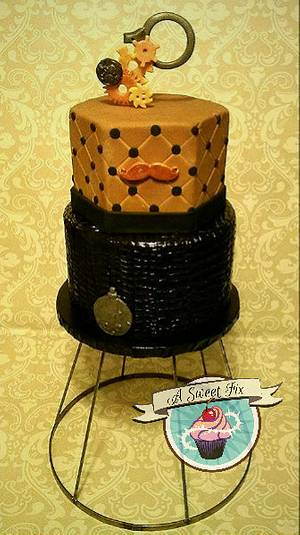 Steampunk Grooms Cake - Cake by Heather Nicole Chitty