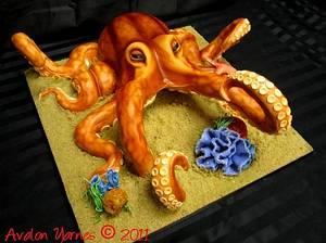 Octopus Cake - Cake by Avalon Cakes School of Sugar Art