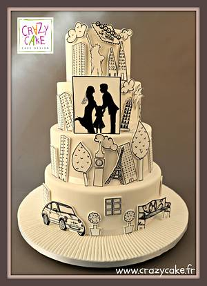 Silhouettes - Cake by Crazy Cake