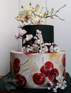 Cherries for a Cherry  - Cake by Calli Creations