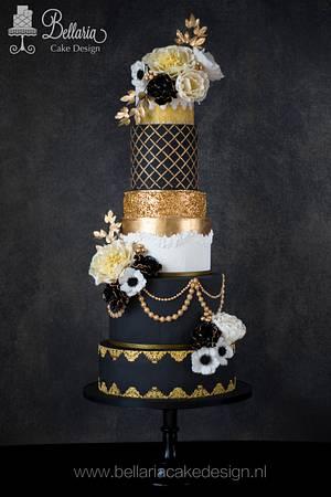 Romantic Great Gatsby weddingcake - Cake by Bellaria Cake Design