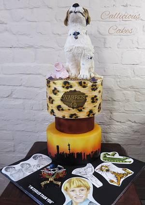 a 40th Scrapbook - Cake by Calli Creations