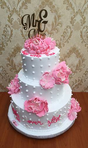 Peonies Abloom  - Cake by Michelle's Sweet Temptation