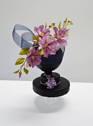 (Hats Off: A Royal Affair collaboration) Purple beauty - Cake by Catalina Anghel azúcar'arte