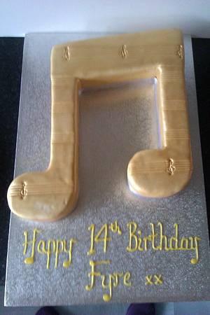 Music note cake - Cake by PipsNoveltyCakes