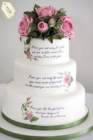 Literary themed wedding cake - Cake by Samantha Pilling