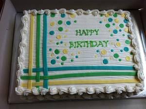 Whimsical Sheet Cake - Cake by caymancake