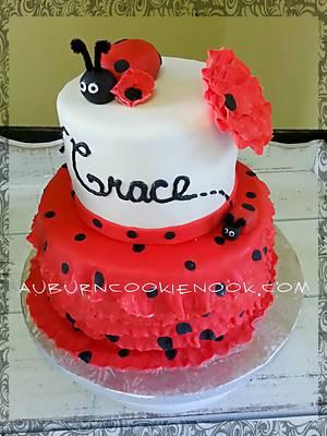 Ladybug Birthday Cake - Cake by Cookie Nook