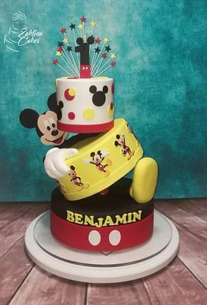 Mickey topsy turvy cake - Cake by Zaklina