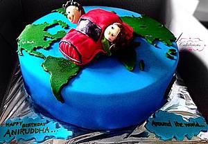 Around the world, WITH YOU! - Cake by Tanvi Sovani-Palshikar