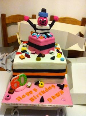Liquorice Allsorts cake! - Cake by Polliecakes