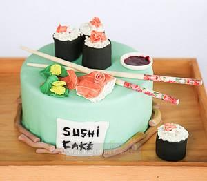 sushi cake - Cake by ilaria pelucchi