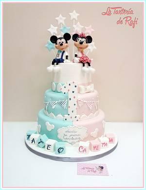 ⭐ Mickey twins ⭐ - Cake by Rafaela Carrasco (La Tartería de Rafi)