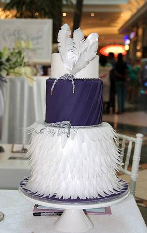 Purple wafer paper design - Cake by Cake My Day