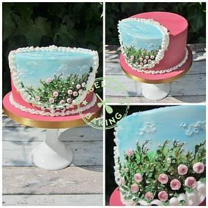 Rose Bush Cake - Cake by Inga Ruby Cakes (formerly Bella Baking)