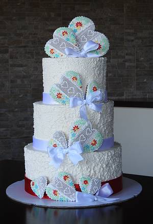 Folk wedding cake - Cake by MartaMc
