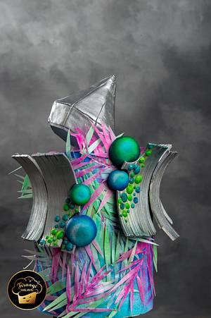 Cakerbuddies Metallics Cake Collab - Cake by firangihalwai