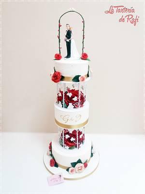 Wedding cake : Lovebirds ❤ - Cake by Rafaela Carrasco (La Tartería de Rafi)