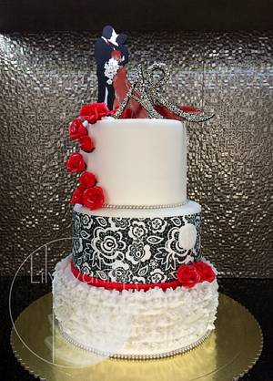 Happy Engagement! - Cake by Lily Vanilly
