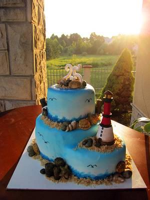 Sea coast cake - Cake by Ania