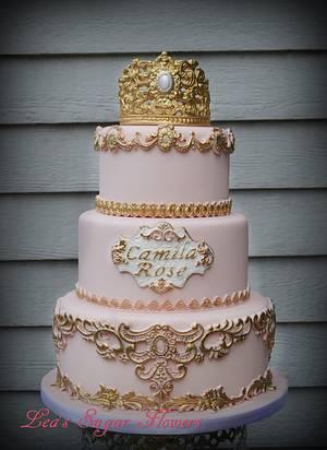 Princess Camila's 3 Tier Cake - Cake by Lea's Sugar Flowers
