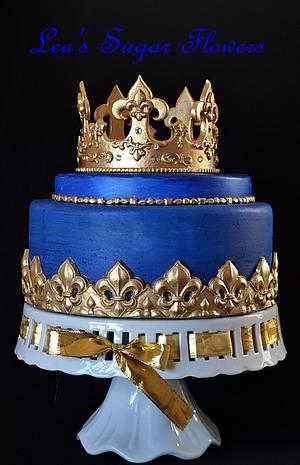 Prince Cake - Cake by Lea's Sugar Flowers