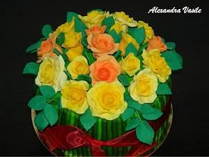 Roses Bouquet Cake - Cake by alexandravasile