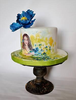 Katy - Cake by Jenny Kennedy Jenny's Haute Cakes
