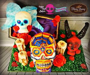 Sugar Skull Bakers 2015 -From the Grave - Cake by Honey Bunny Bake Shop